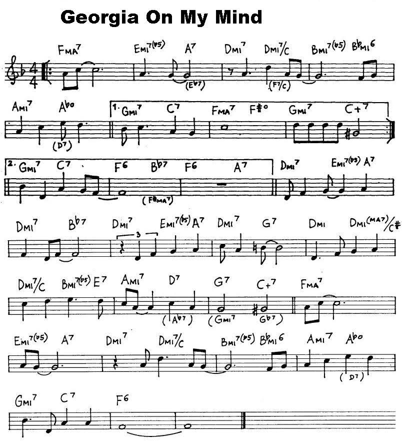 how to play georgia with jazz choirds